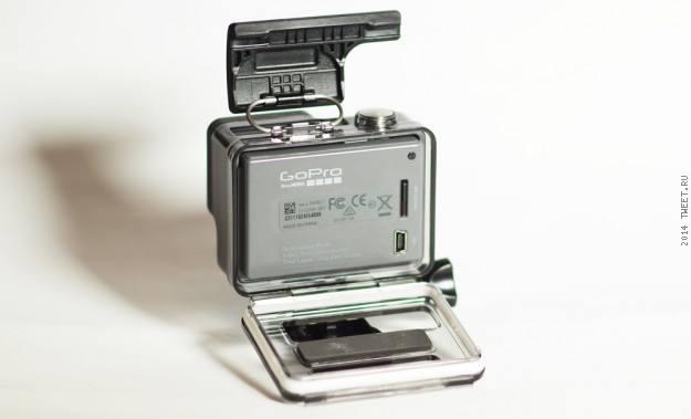 Общий вид сзади экшн-камеры GoPro Hero (CHDHA-301)