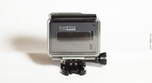 Общий вид сзади в собранном виде экшн-камеры GoPro Hero (CHDHA-301)