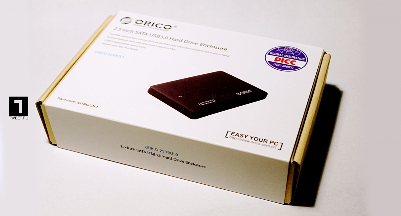 Обзор контейнера для HDD накопителей формата 2.5 - ORICO 2599US3 USB 3.0