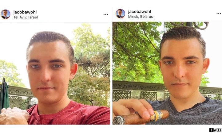 Блогера Jacob Wohl  (Джейкоб Уол), который путешествовал по миру, разоблачили по одной детали на его фото