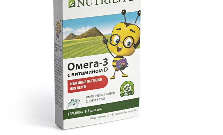 Желейные пастилки для детей Омега-3 с витамином D от Nutrilite™