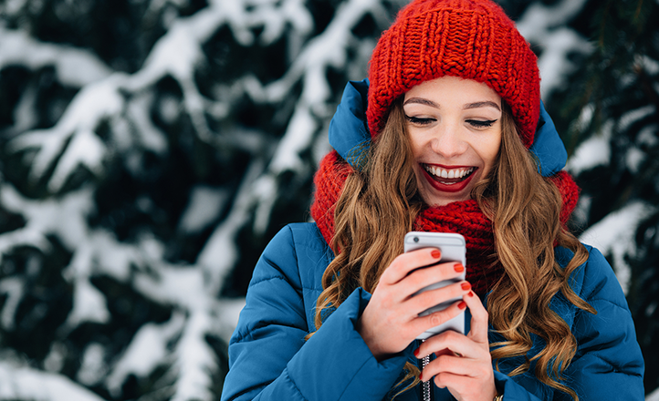 На новогодние праздники россияне выбрали SMS