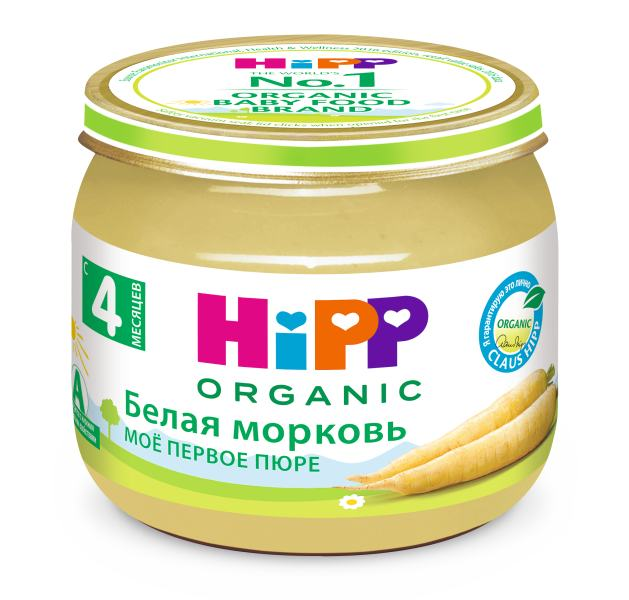 Моноовощные пюре HiPP – идеальное решение для начала прикорма